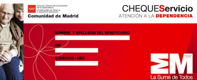 El cheque servicio de la Comunidad de Madrid: un apoyo para el acceso a nuestros pisos tutelados y servicios de ayuda a domicilio