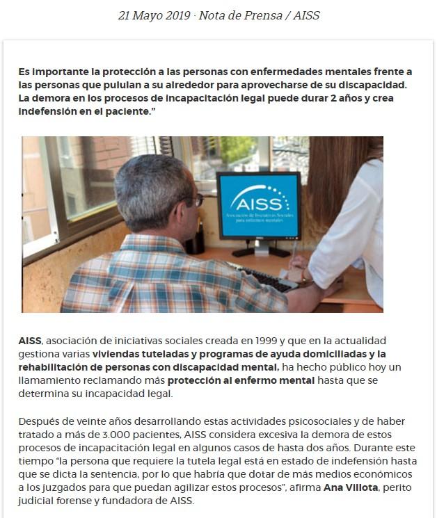 nota prensa AISS